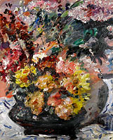 Lovis Corinth: Flowers in a Bronze Bucket