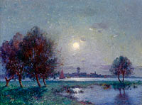 Ferdinand du Puigaudeau: The Bank of Loire under Clear Moon