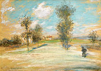 Landscape with a Peasant on the Road