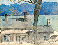 Frederick Childe Hassam: Old House, Newburgh, New York