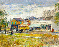 Frederick Childe Hassam: End of the Trolley Line, Oak Park, Illinois