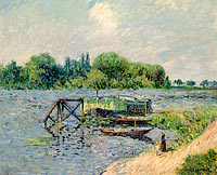 Gustave Loiseau: Laun Place on the Seine at Herblay (1)