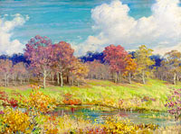 Charles Courtney Curran: Autumn Landscape