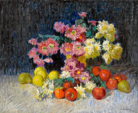 Константин Горбатов: Still Life with Flowers and Fruits