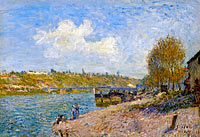Alfred Sisley: Laundresses at the River Bank