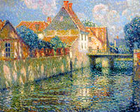 Henri Le Sidaner: The Channel in Spring