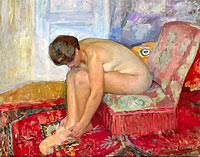 Анри Лебаск: Female Nude Seated
