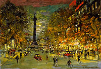 Konstantin Korovin: The Square of Bastille, Paris