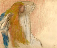 Woman Combing Her Hair (3)