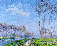 Gustave Loiseau: Trees on the Bank of the River
