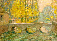 Henri Le Sidaner: Bridge, Autumn, Gisors