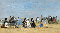 Trouville, Scene on the Beach
