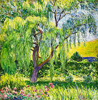 Blanche Hoschedé Monet: Giverny, Willow and Roses