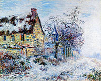 Gustave Loiseau: Snow Effect at Porte-Joie