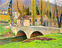 Анри Мартен: The Bridge in Labastide-du-Vert