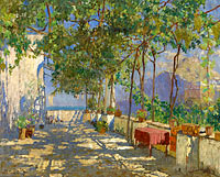 Constantin Gorbatov: Patio in Capri