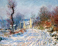 The Road at Giverny in Winter