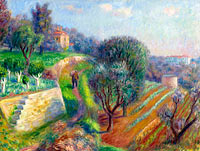 William Glackens: Hillside