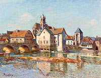 Alfred Sisley: The Bridge of Moret (2)