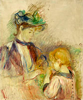 Young Woman and Child, Avenue du Bois