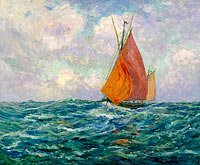 Maxime Maufra: Fishing Boat at the Sea