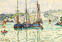 Paul Signac: Three Boats