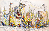 Paul Signac: The Port of La Roshelle (2) (2)