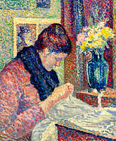Maximilien Luce: Woman Sewing