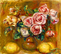 Pierre-Auguste Renoir: Still life with Roses and Lemons