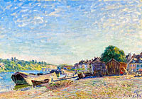 Alfred Sisley: The Banks of Loing at Saint-Mammes