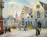 Maxime Maufra: The Church of Saint-Nicolas des Champs, Saint-Martin Street, Paris