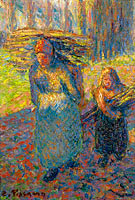 Peasant Women Carrying Brushwood