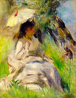 Pierre-Auguste Renoir: Young Woman with a Parasol