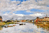 Eugène Louis Boudin: Trouville, the Port (2)