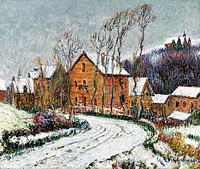 Gustave Loiseau: The Snow at Puys near Dieppe
