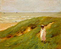 Dune near Nordwijk with Child