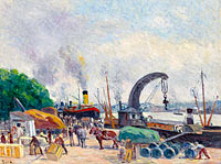 Maximilien Luce: The Quay of Bercy