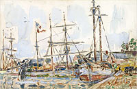 Paul Signac: The Port of Saint-Servan