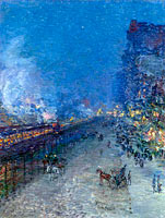 Frederick Childe Hassam: Night Train