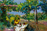Joaquín Sorolla: Siesta in the Garden