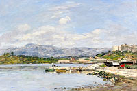 Eugène Louis Boudin: Antibes, The Fort Carre