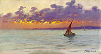 Fausto Zonaro: From the Patras Seafront (Sunset)