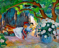 Henri Lebasque: Young Woman at Hammock
