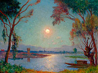 Ferdinand du Puigaudeau: The Bank of Loire under Clear Moon (2)