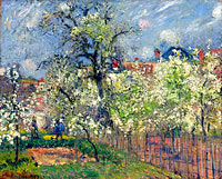 The Garden of Maubuisson, Pontoise. Pear Trees in Bloom
