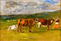 Cows on the Pasture (study)