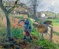 Peasant Woman with the Donkey, Pontoise