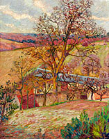 Jean-Baptiste-Armand Guillaumin: Farm and Trees at Saint-Cheron