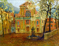 Henri Le Sidaner: The Church of Dolceacqua