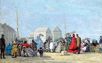 Scene on the Beach at Trouville